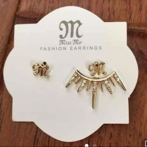 Brand new miss me earrings